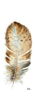 Watercolor Feather White III by Patricia Pinto