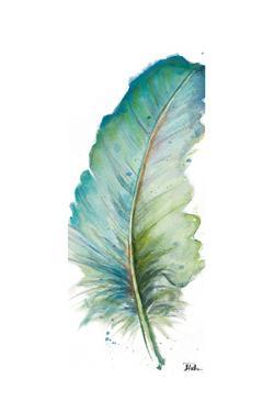 Watercolor Feather White IV by Patricia Pinto