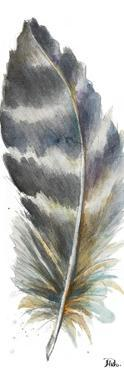 Watercolor Feather White VI by Patricia Pinto