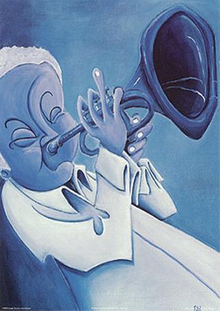 Blue Jazzman I by Patrick Daughton