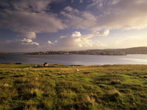 Bressay, Lerwick Town and Bressay Sound from Bressay Island, Shetland Islands, Scotland, UK by Patrick Dieudonne