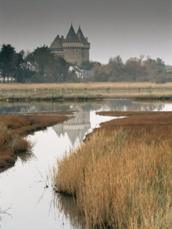 Castle and Marshes of Suscinio, Morbihan, Brittany, France, Europe