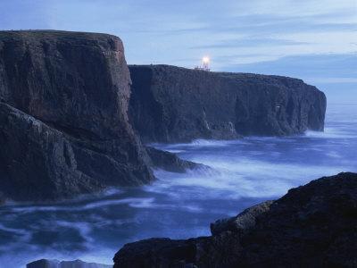 Eshaness Basalt Cliffs at Dusk, Eshaness, Northmavine, Shetland Islands, Scotland