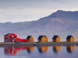 Eskifjordur Village, Eskifjordur Fjord, East Fjords Region (Austurland), Iceland, Polar Regions by Patrick Dieudonne