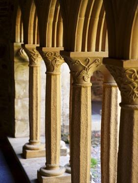 Finely Carved Capitals in the Cloisters, Iona Abbey, Isle of Iona, Scotland, United Kingdom, Europe by Patrick Dieudonne