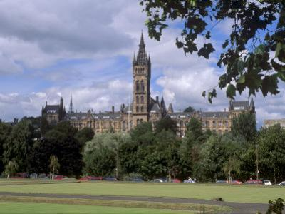 Glasgow University Dating from the Mid-19th Century, Glasgow, Scotland, United Kingdom, Europe