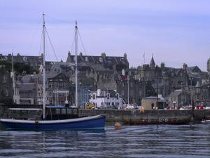 Lerwick Seafront, with Wharves and Slipways, from Bressay, Shetland Islands, Scotland, UK by Patrick Dieudonne