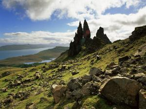 Old Man of Storr, Overlooking Loch Leathan and Raasay Sound, Trotternish, Isle of Skye, Scotland by Patrick Dieudonne