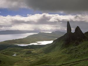 Old Man of Storr, Overlooking Sound of Raasay, Isle of Skye, Highland Region, Scotland by Patrick Dieudonne