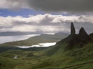 Old Man of Storr, Overlooking Sound of Raasay, Isle of Skye, Highland Region, Scotland by Patrick Dieudonne