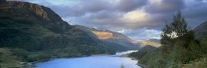 Panoramic View of Loch Leven, Near Glencoe, Highland Region, Scotland, United Kingdom, Europe by Patrick Dieudonne