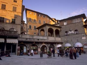 Piazza Della Repubblica in the Evening in the Medieval Town of Cortona, Tuscany, Italy, Europe by Patrick Dieudonne