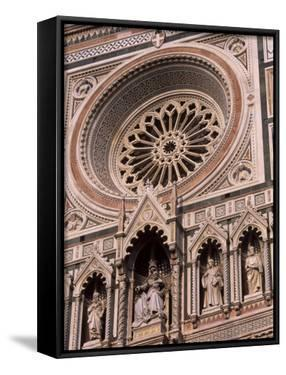 Rose Window and Facade of Polychrome Marble, Duomo Santa Maria Del Fiore, Florence, Tuscany, Italy by Patrick Dieudonne