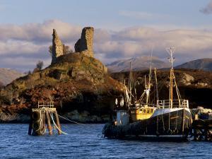 Ruins of Castle Moil and Fishing Harbour at Kyleakin, Skye, Inner Hebrides, Highlands, Scotland by Patrick Dieudonne