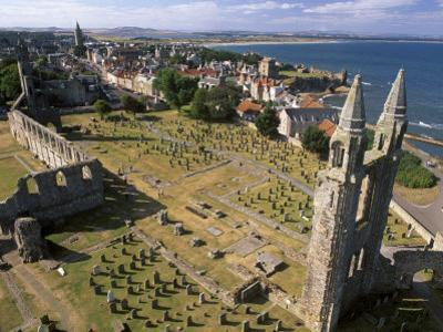 Ruins of St. Andrews Cathedral, Dating from the 14th Century, St. Andrews, Fife, Scotland