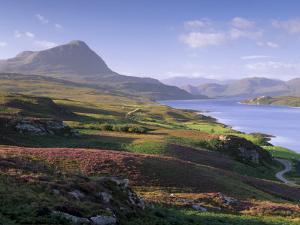 Strathmore Valley, Loch Hope and Ben Hope, 927M, Sutherland, Highland Region, Scotland, UK by Patrick Dieudonne