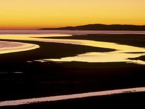 Sunset over Luskentyre Bay, at Low Tide, West Coast of South Harris, Outer Hebrides, Scotland, UK by Patrick Dieudonne