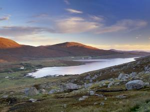 View over Ardvourlie, Borglass and Loch Seaforth, North Harris, Outer Hebrides, Scotland, UK by Patrick Dieudonne