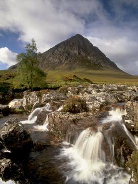 Waterfall on River Coupall, Glen Etive, Near Glencoe, Highland Region, Scotland, UK by Patrick Dieudonne
