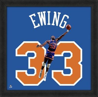 Patrick Ewing, Knicks  Representation of the player's jersey