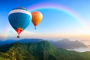 Colorful Hot-Air Balloons by Patrick Foto