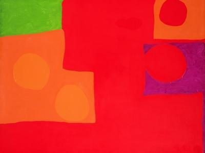 Two Vermillions, Green and Purple in Red: March 1965 by Patrick Heron