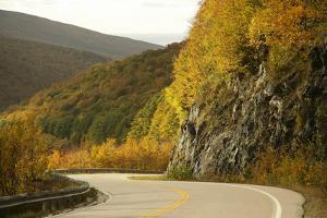 Canada, Nova Scotia, Cape Breton, Cabot Trail, in Fall Color by Patrick J. Wall