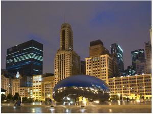 Chicago at night by Patrick  J^ Warneka