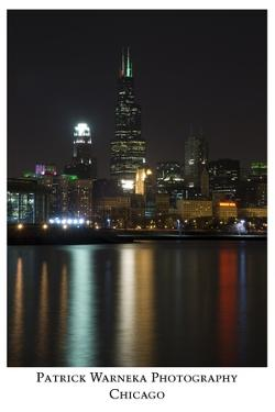 Chicago sears tower skyline by Patrick  J. Warneka