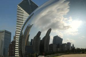 Chicago Skyline Reflected by the Bean by Patrick J. Warneka