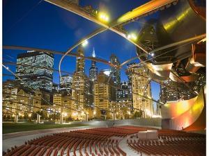 Millennium Park  outdoor theater by Patrick  J^ Warneka