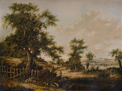 Landscape, with Pool and Tree in foreground, 1828