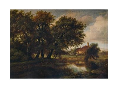 Old Cottages on the Brent, looking towards Harrow, 1830