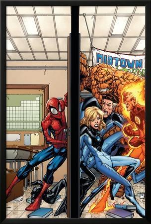 Marvel Adventures Spider-Man No.39 Cover: Spider-Man, Fatastic Four