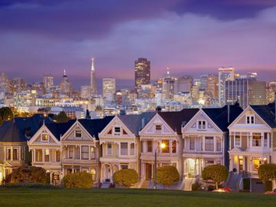 Alamo Square and the Victorian Style Painted Ladies Homes, San Francisco, California, USA by Patrick Smith