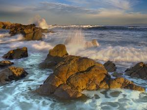 Crashing Waves Eroding the Rocky Coast Near Monterey, California, USA by Patrick Smith