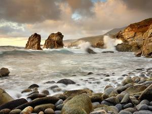 High Surf Pounding the Rocky Coast after a Storm Cleared South of Monterey, California, USA by Patrick Smith