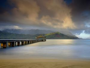 The Hanalei Pier Points Towards the Mountains Often Called Bali Hai by Patrick Smith
