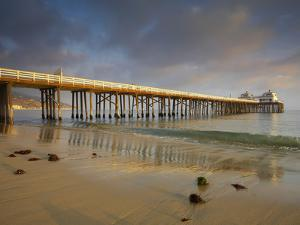 The Malibu Pier and the Santa Monica Mountains in the Distance, California, USA by Patrick Smith