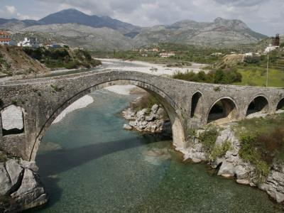 Mesi Bridge (Ura E Mesit) over the Kiri River