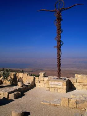 The Serpent and Cross Monument on the Summit of Mt. Nebo, Mt. Nebo, Jordan by Patrick Syder