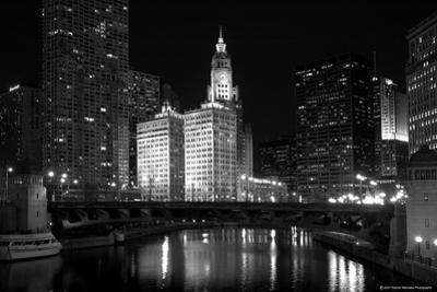Black And White Of Chicago River