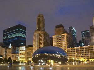 Chicago At Night by Patrick Warneka