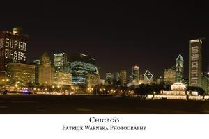 Chicago Bears Skyline by Patrick Warneka