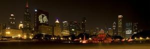 Chicago Black Hawks Skyline by Patrick Warneka