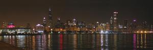 Chicago Cubs Skyline by Patrick Warneka