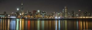 Chicago Skyline Colorful Reflection by Patrick Warneka