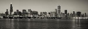 Chicago Skyline In Black And White by Patrick Warneka