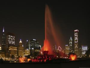 Chicago Whitesox Skyline With Buckingham Fountain by Patrick Warneka