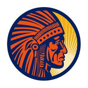 American Indian Chief Warrior by patrimonio